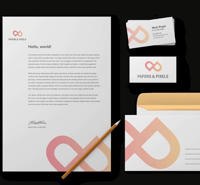 papers and pixels huisstijl mockup - grafisch ontwerp